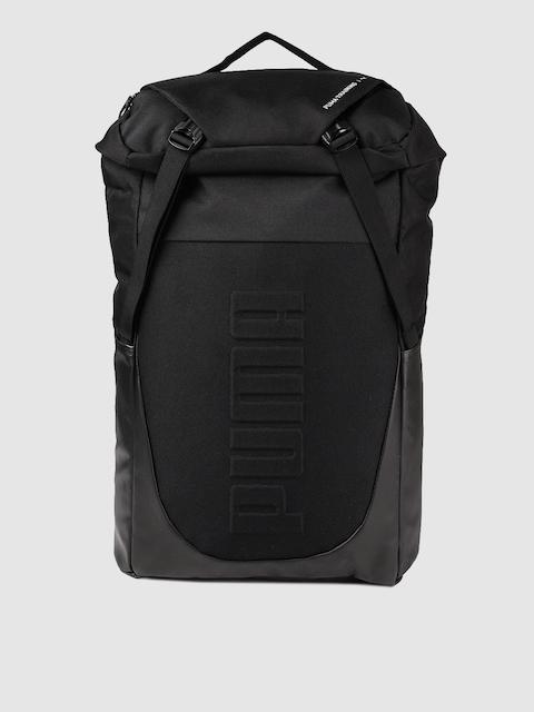 Puma Unisex Black Solid Backpack Cum Duffle Bag