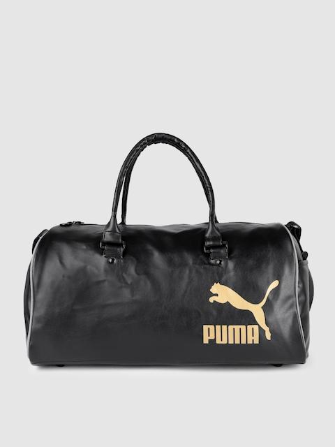 Puma Unisex Black Originals Grip Retro Duffel Bag