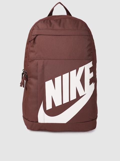 Nike Unisex Brown Brand Logo Backpack