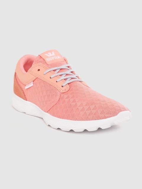 Supra Men Peach-Coloured Hammer Run Woven Design Sneakers