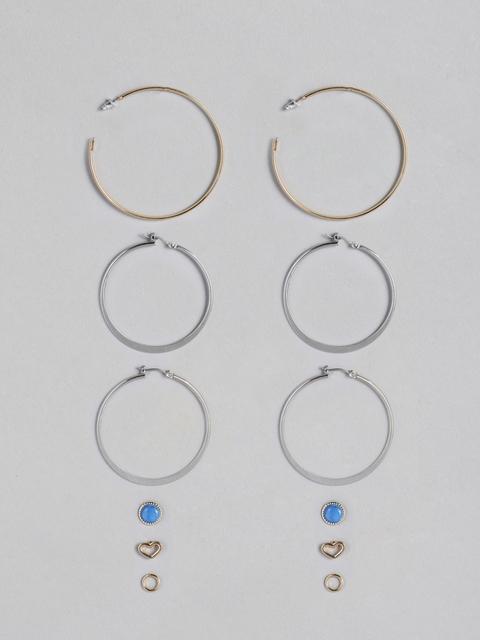 justpeachy Set Of 6 Earrings