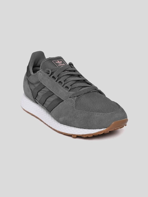 ADIDAS Originals Women Charcoal Grey Forest Grove Sneakers