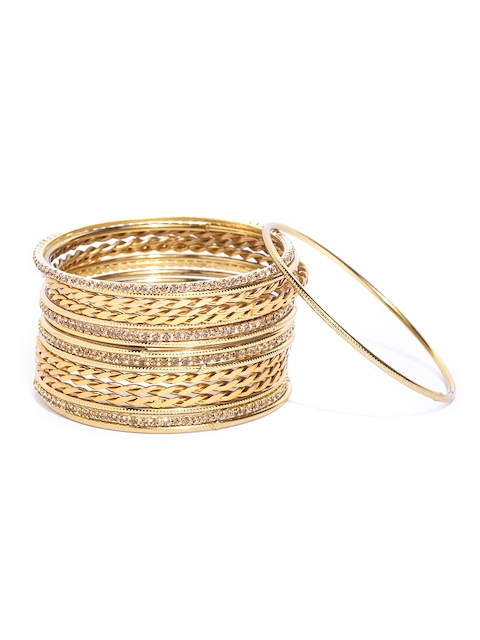 Priyaasi Set of 18 Gold-Plated Handcrafted Bangles