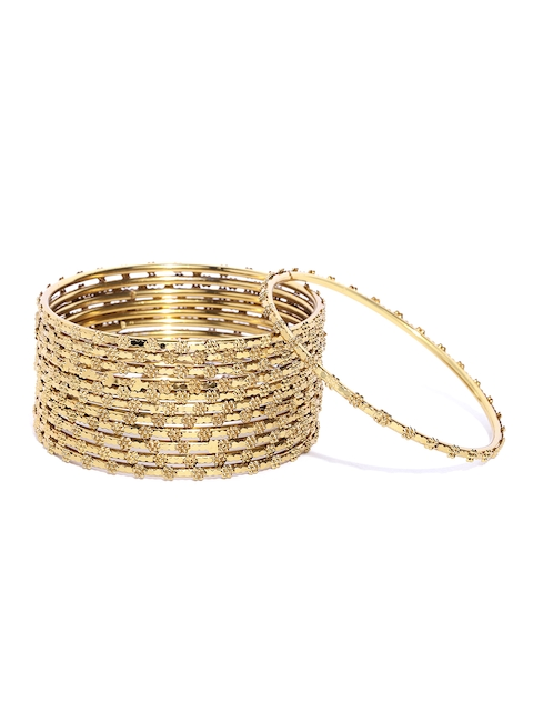 Priyaasi Set of 12 Gold-Plated Handcrafted Bangles