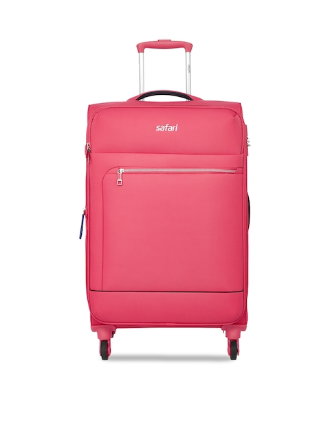 Safari Women Coral Solid Trolley Suitcase