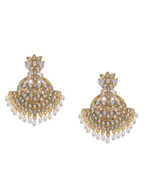 Zaveri Pearls Gold-Toned Contemporary Chandbalis