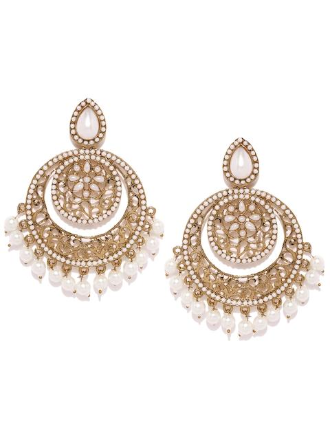 Zaveri Pearls Gold-Toned Circular Chandbalis