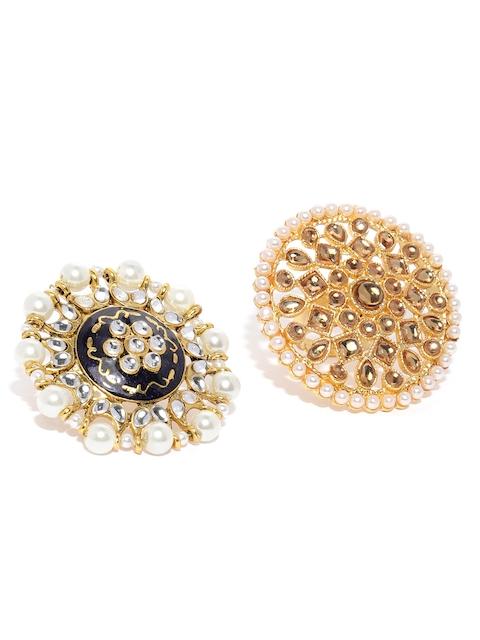 Zaveri Pearls Set Of 2 Traditional Adjustable Finger Rings