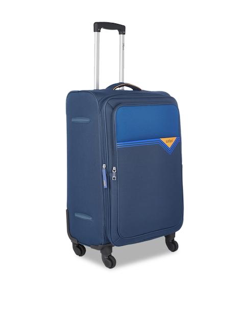 Safari Unisex Blue Solid Medium Trolley Suitcase
