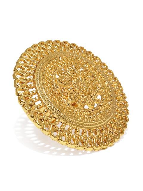 Zaveri Pearls Gold-Plated Adjustable Finger Ring
