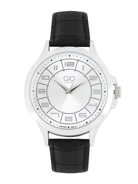 GIO COLLECTION Men Silver-Toned Analogue Watch P9346
