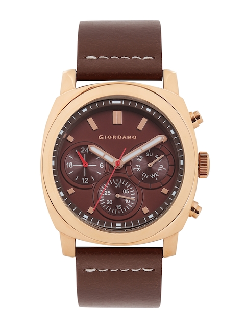 GIORDANO Men Brown Dial Watch 1751-02