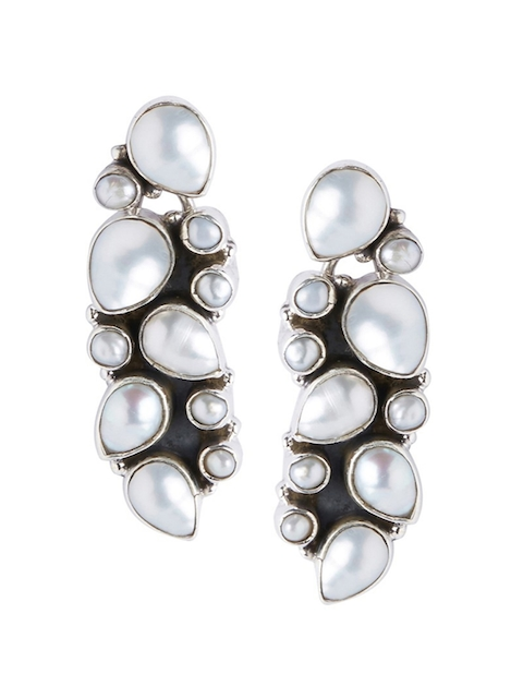 ahilya 92.5 Sterling  Silver Quirky Studs