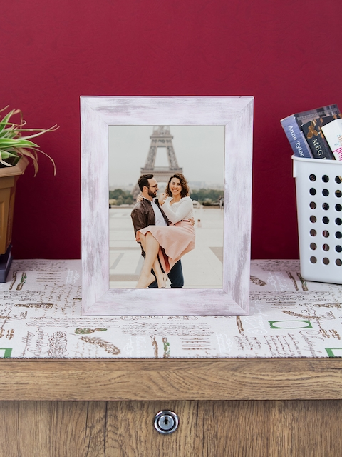 WISHTANK Pink Solid Table Top Photo Frame