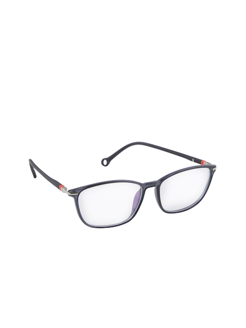 VAST Unisex Blue Solid Full Rim Square Frames TR90