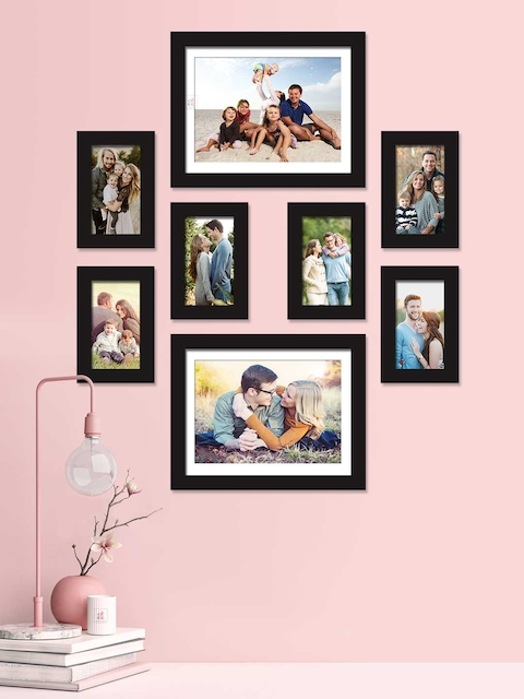 Art Street Set of 8 Black Solid Individual Photo Frames