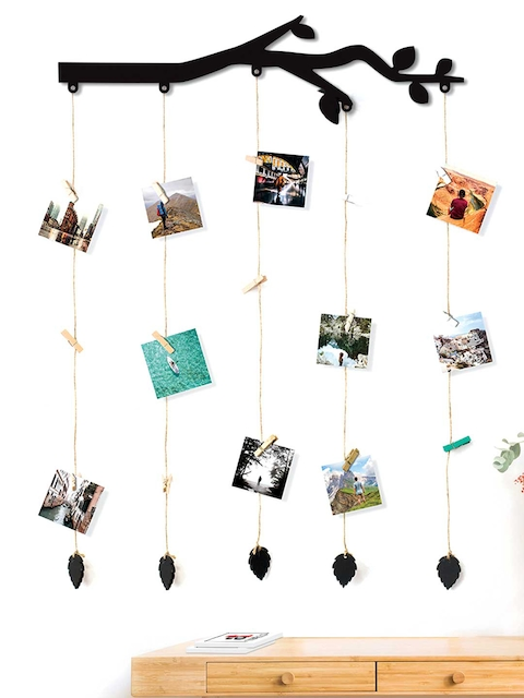 Art Street Black Tree Wall Hanging 20 Photos Holders with Clips