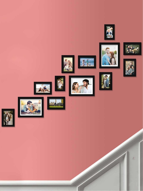Art Street Set Of 13 Black Solid Individual Photo Frames