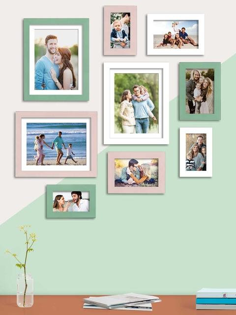 Art Street Set Of 9 Solid Individual Wall Photo Frames