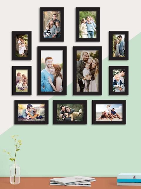 Art Street Set Of 11 Black Solid Individual Photo Frames