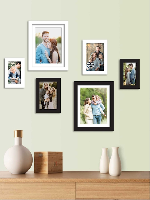 Art Street Set Of 6 Solid Individual Wall Photo Frames