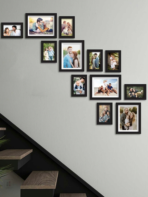 Art Street Set of 12 Black Solid Individual Photo Frames