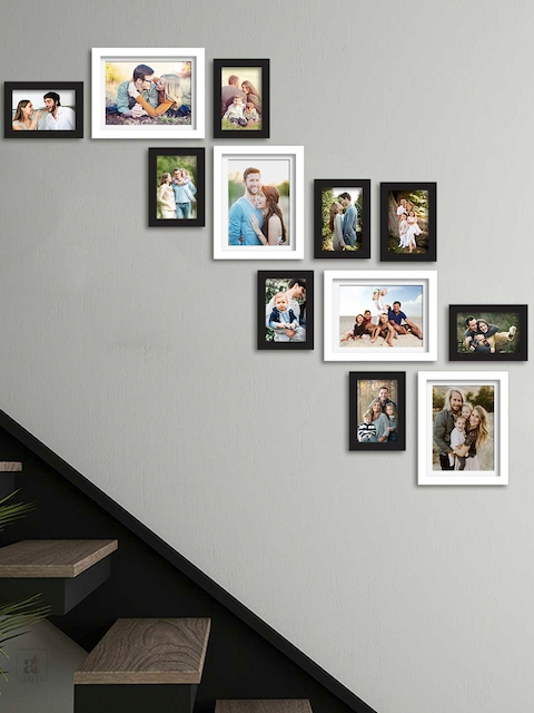 Art Street Set Of 12 Black Solid Individual Wall Photo Frames