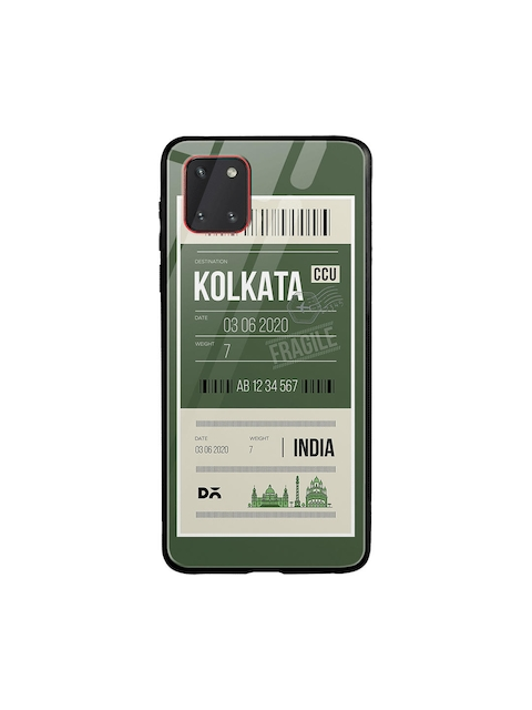 DailyObjects Unisex Green Kolkata City Tag Samsung Galaxy Note 10 Lite Glass Mobile Cover