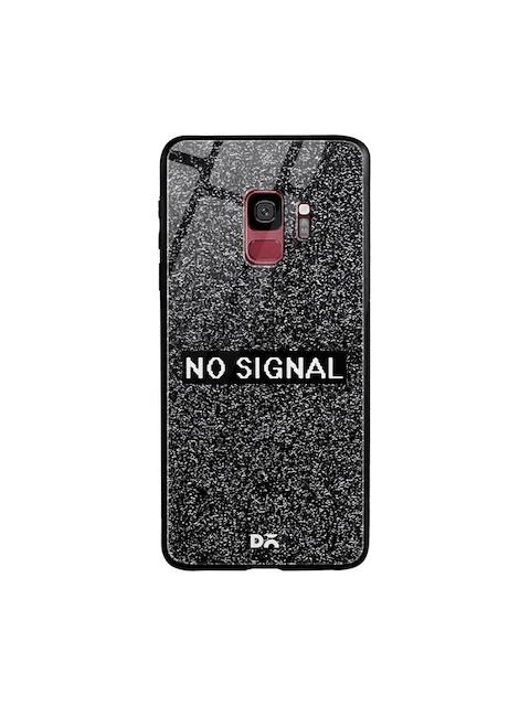DailyObjects Unisex Black Printed No Signal Glass Samsung Galaxy S9 Mobile Cover