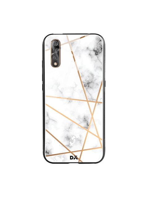 DailyObjects White & Black Marble Lines Vivo S1 Glass Mobile Cover