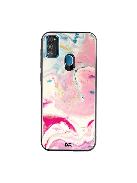 DailyObjects Pink & Blue Shades of Marble Samsung Galaxy M30S Glass Mobile Cover