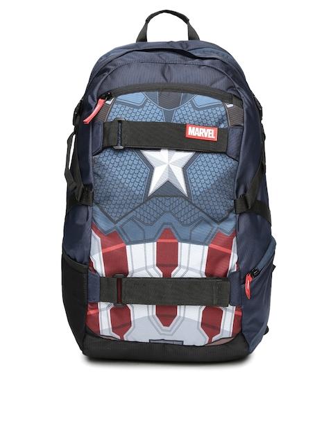 Kook N Keech Marvel Unisex Navy Captain America Star Printed Backpack