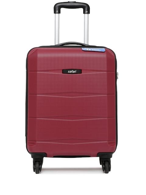 Safari Unisex Maroon Regloss-Antiscratch Small Trolley Suitcase