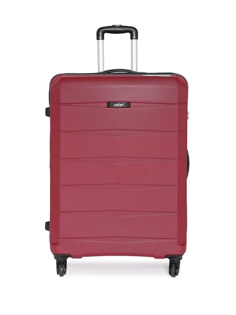 Safari Unisex Maroon Regloss-Antiscratch Large Trolley Suitcase