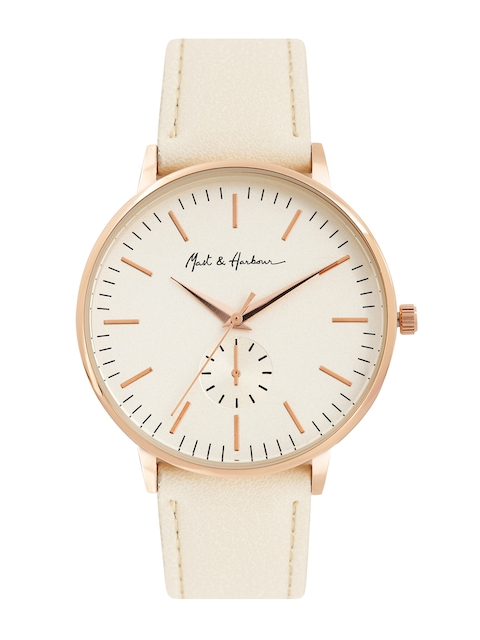 Mast & Harbour Women Off-White Analogue Watch