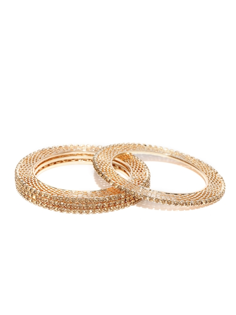 YouBella Set of 4 Gold-Plated Stone-Studded Bangles