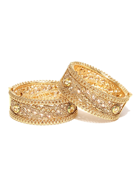 YouBella Set of 2 Gold-Plated Stone-Studded Bangles