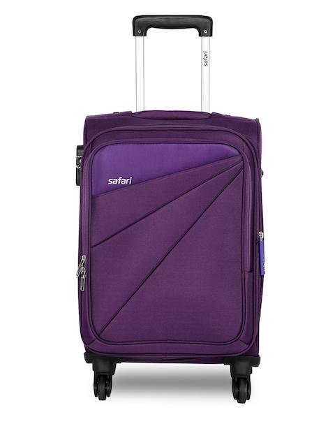 Safari Unisex Purple Mimik Cabin Trolley Bag