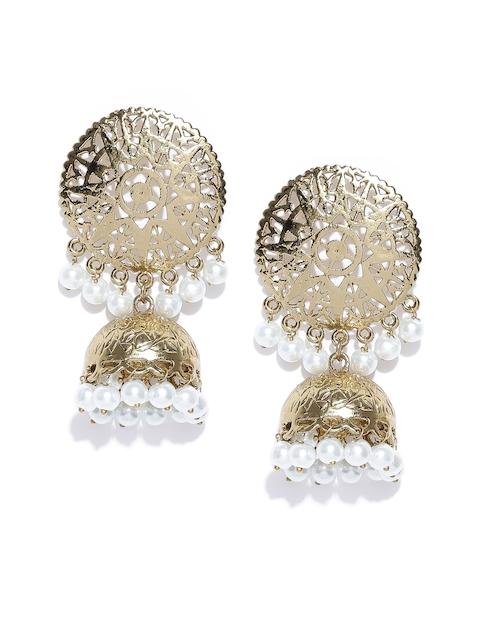 Zaveri Pearls Gold-Toned Circular Jhumkas