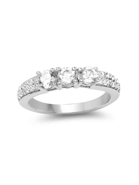 Johareez Sterling Silver & White Cluster Ring With 1.84CTW Cubic Zirconia Diamonds
