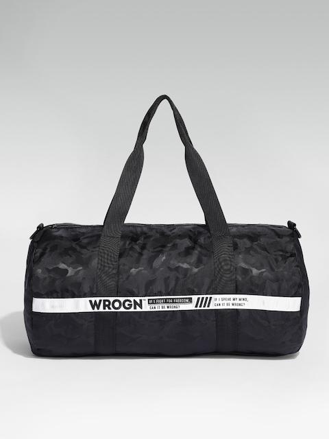 WROGN Unisex Black Printed Duffel Bag