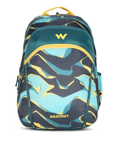 Wildcraft 2 Pablo Unisex Blue & Green Graphic Backpack