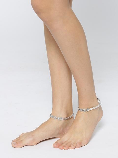 Priyaasi Oxidised Silver-Plated Anklets