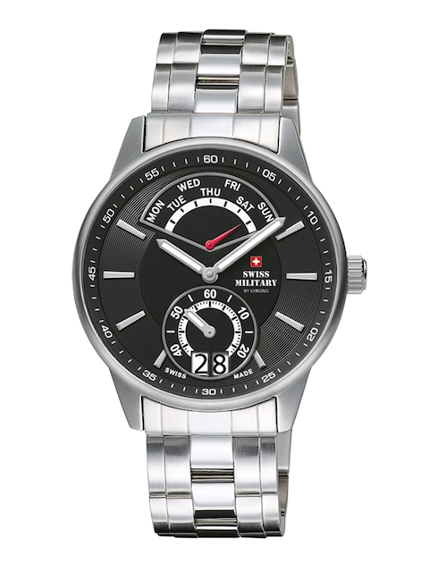 Swiss Military by Chrono Men Black Analogue Watch SM34037.01