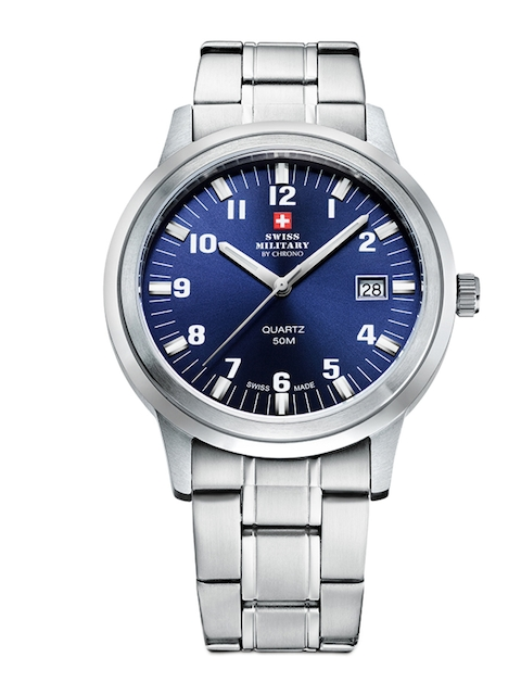 Swiss Military by Chrono Men Blue Analogue Watch