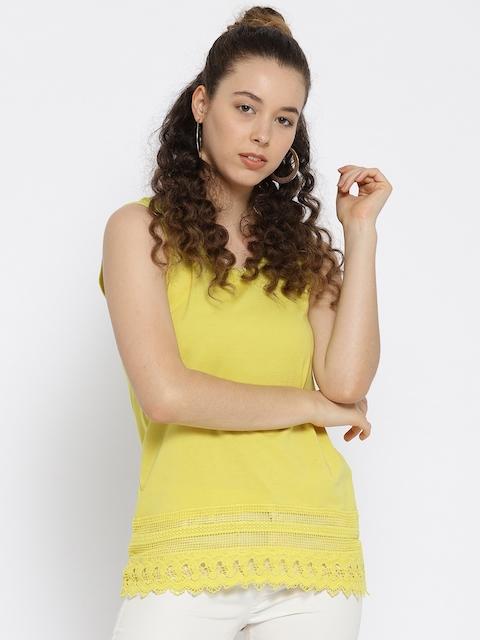 OVS Women Yellow Solid Top