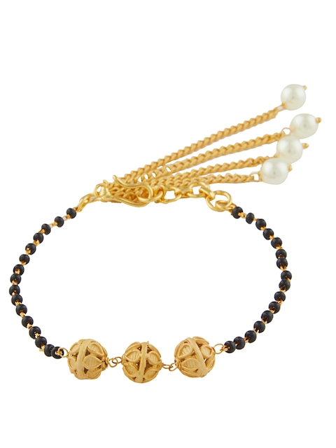 Sia Art Jewellery Gold-Toned Metal Gold-Plated Bangle-Style Bracelet
