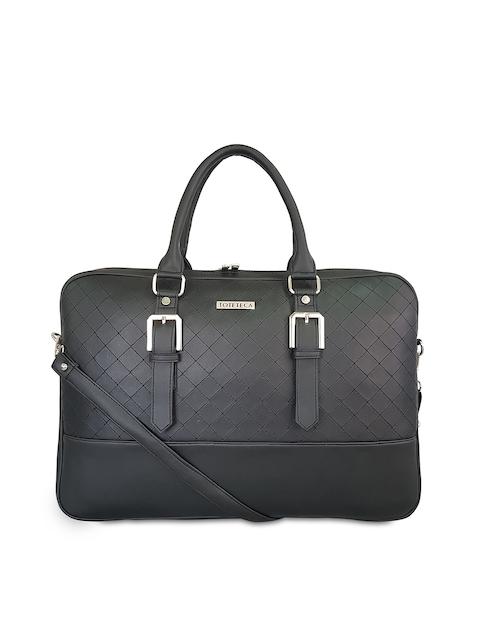 Toteteca Women Black Solid Laptop Bag