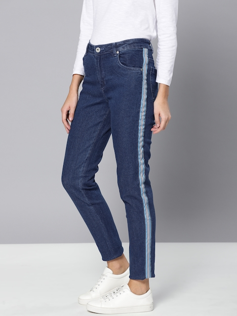 Chemistry Women Blue Regular Fit Mid-Rise Clean Look Stretchable Cropped Jeans