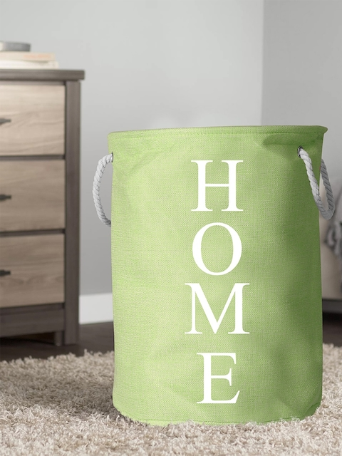 Story@home Unisex Green Printed Foldable Laundry Bag